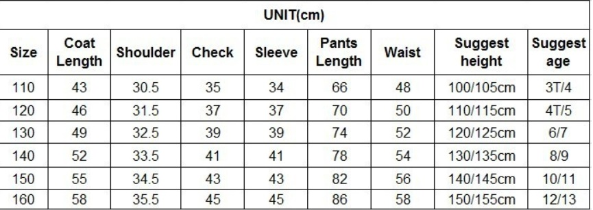 Размеры одежды для детей на алиэкспресс