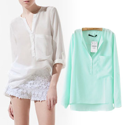 n2-51-europe-and-america-new-fashion-short-in-front-long-pocket-silk-end-of-the